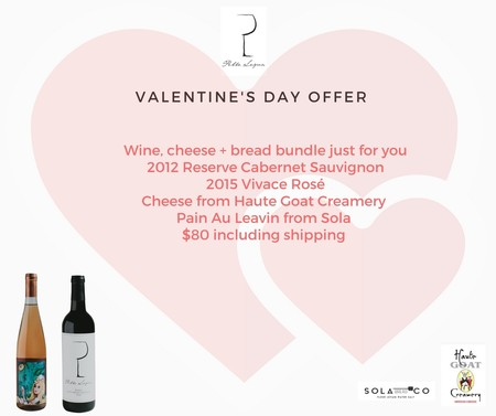 Valentines Day wine and food bundle